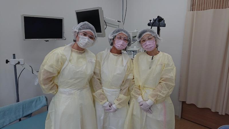 内視鏡検査での感染防護